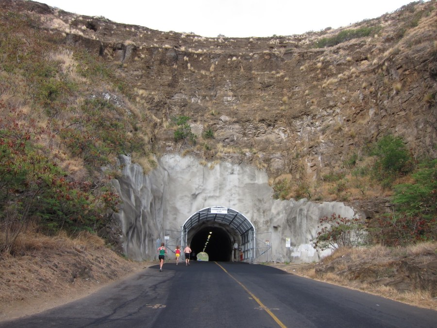 The First tunnel to enter the crater.