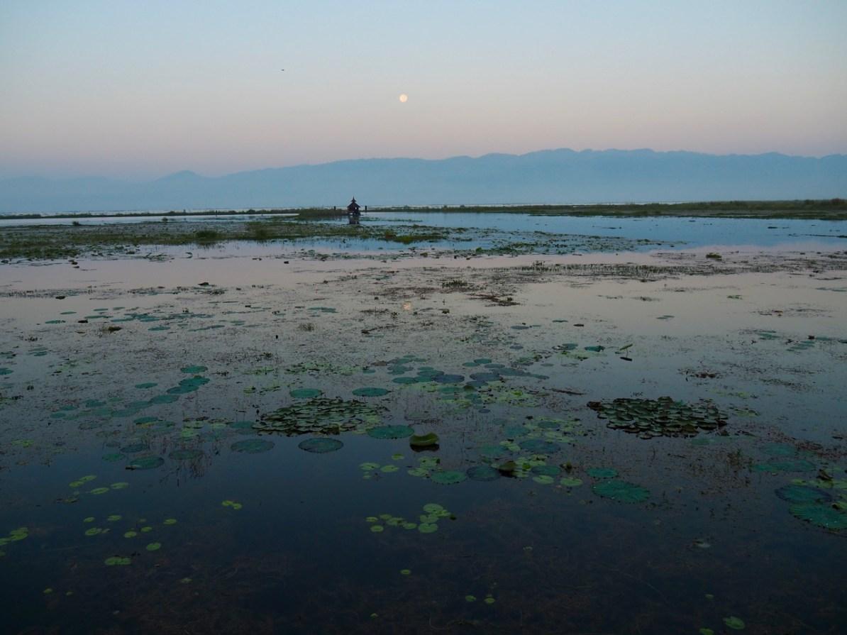 Sunrise over Inle Lake.