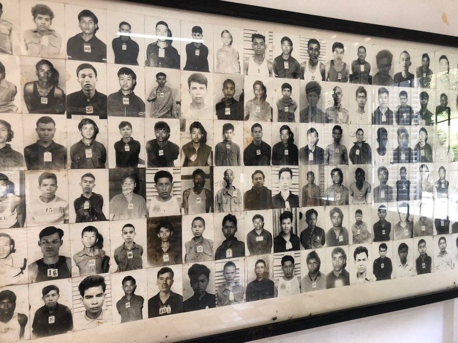 Photos of Khmer Rouge victims at S21