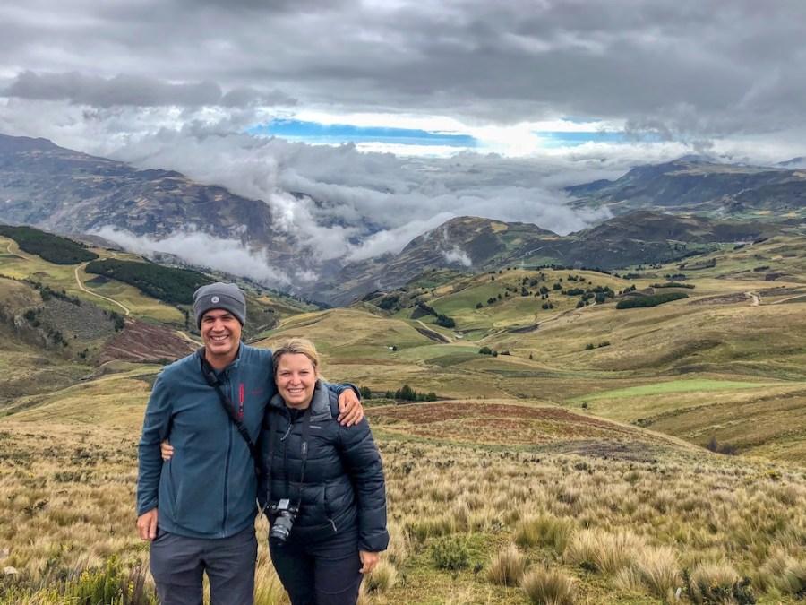 Incredible alpine scenery of Ecuador
