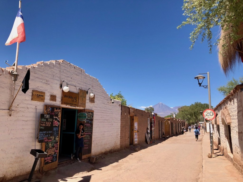 The main street of San Pedro de Atacama