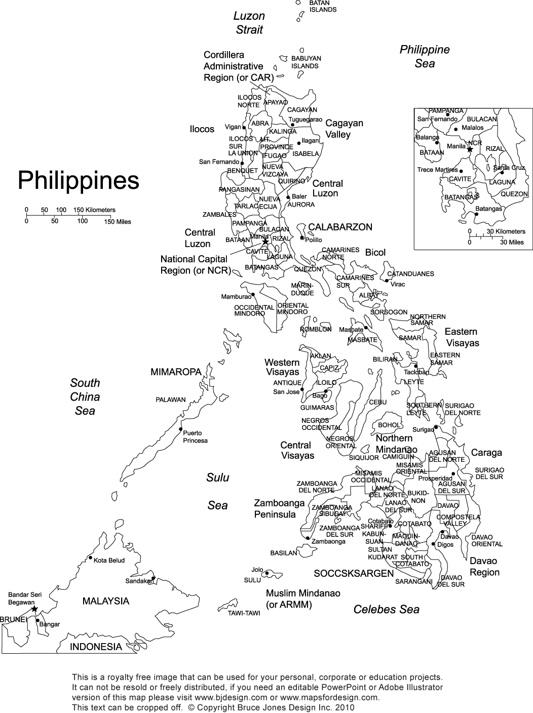 Philippines Map Coloring Pages