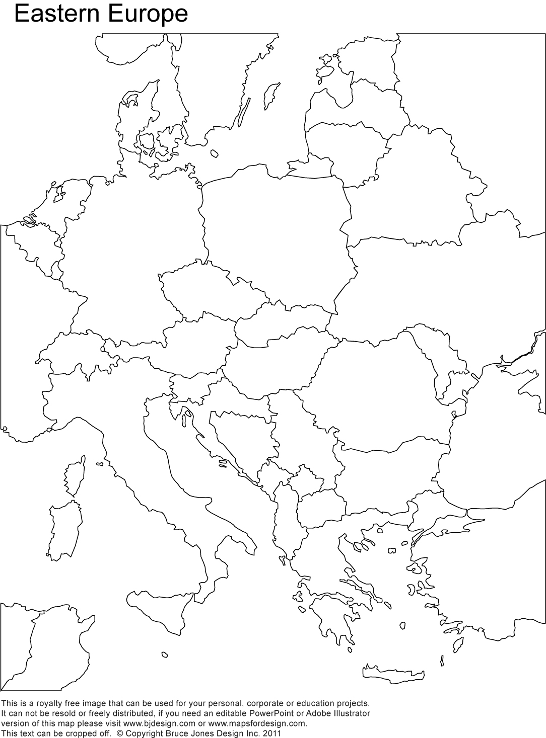 Blank Map Of Europe And Middle East