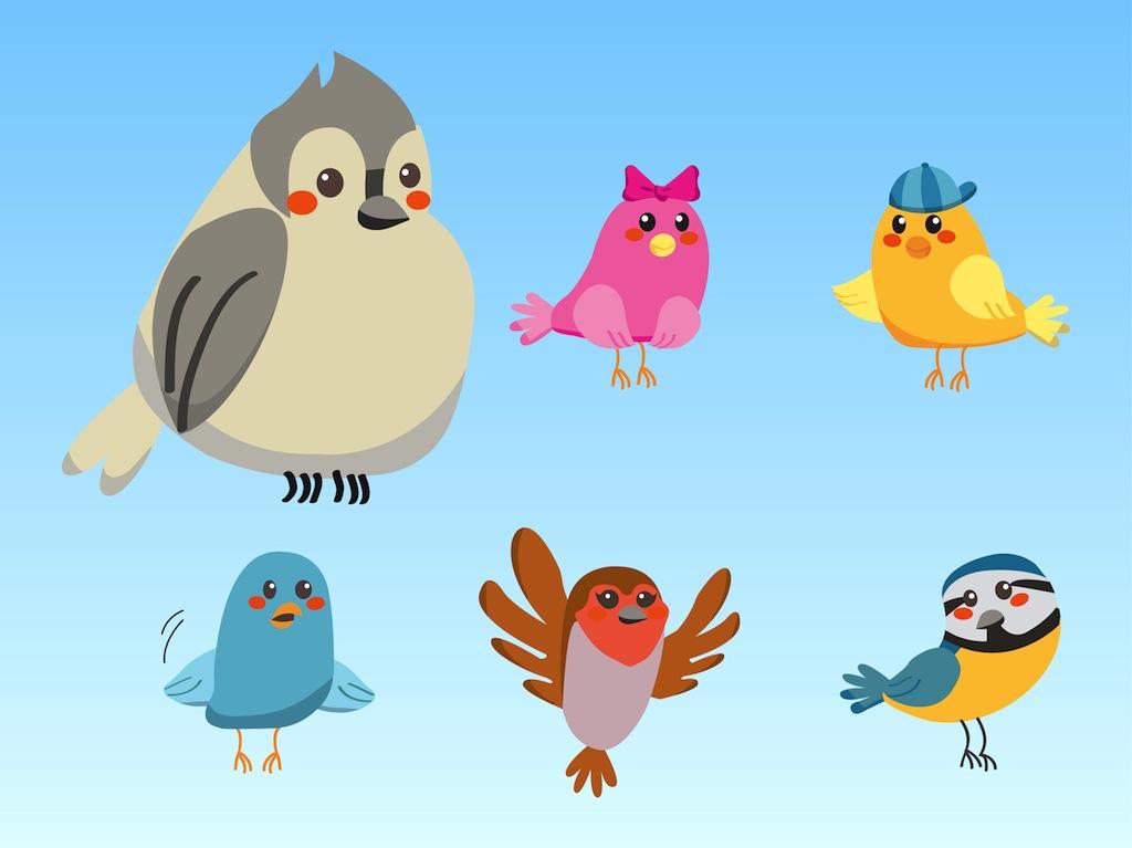 Cute Birds Vector Art Graphics Freevector Com
