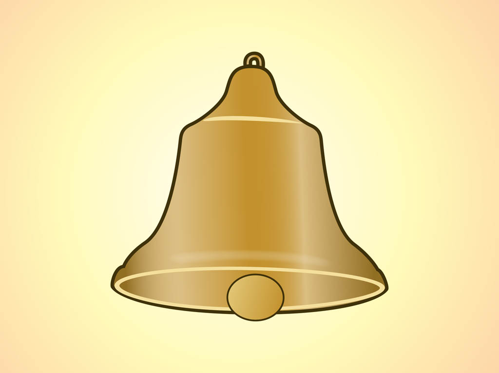 Golden Bell Vector Vector Art Amp Graphics