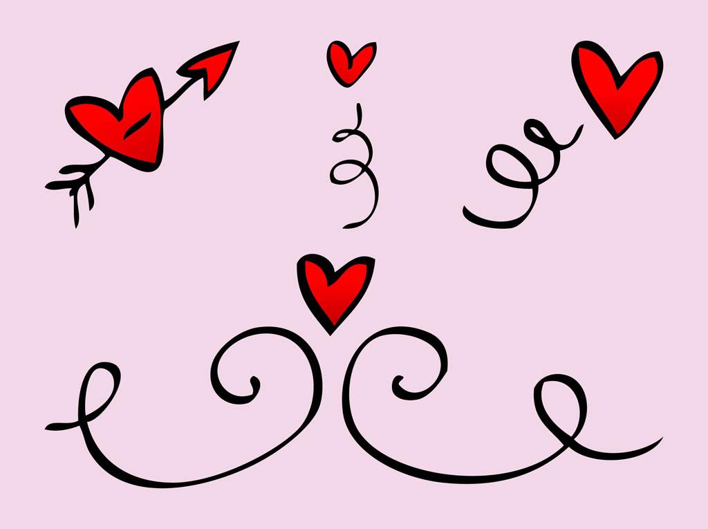Download Heart Doodles Vector Vector Art & Graphics | freevector.com