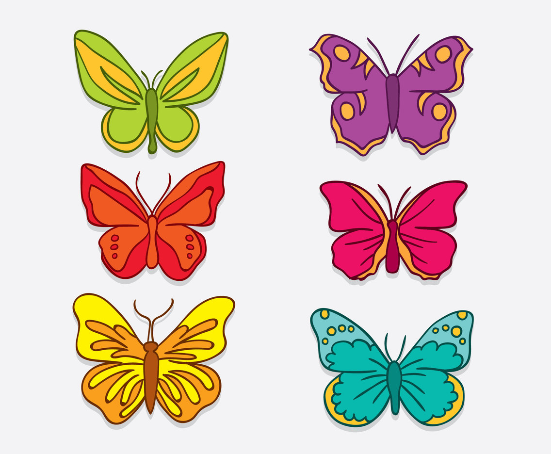 Hand Drawn Butterfly Clip Art Vector Vector Art Graphics Freevector Com