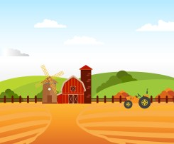 Illustration of Farm Field agriculture
