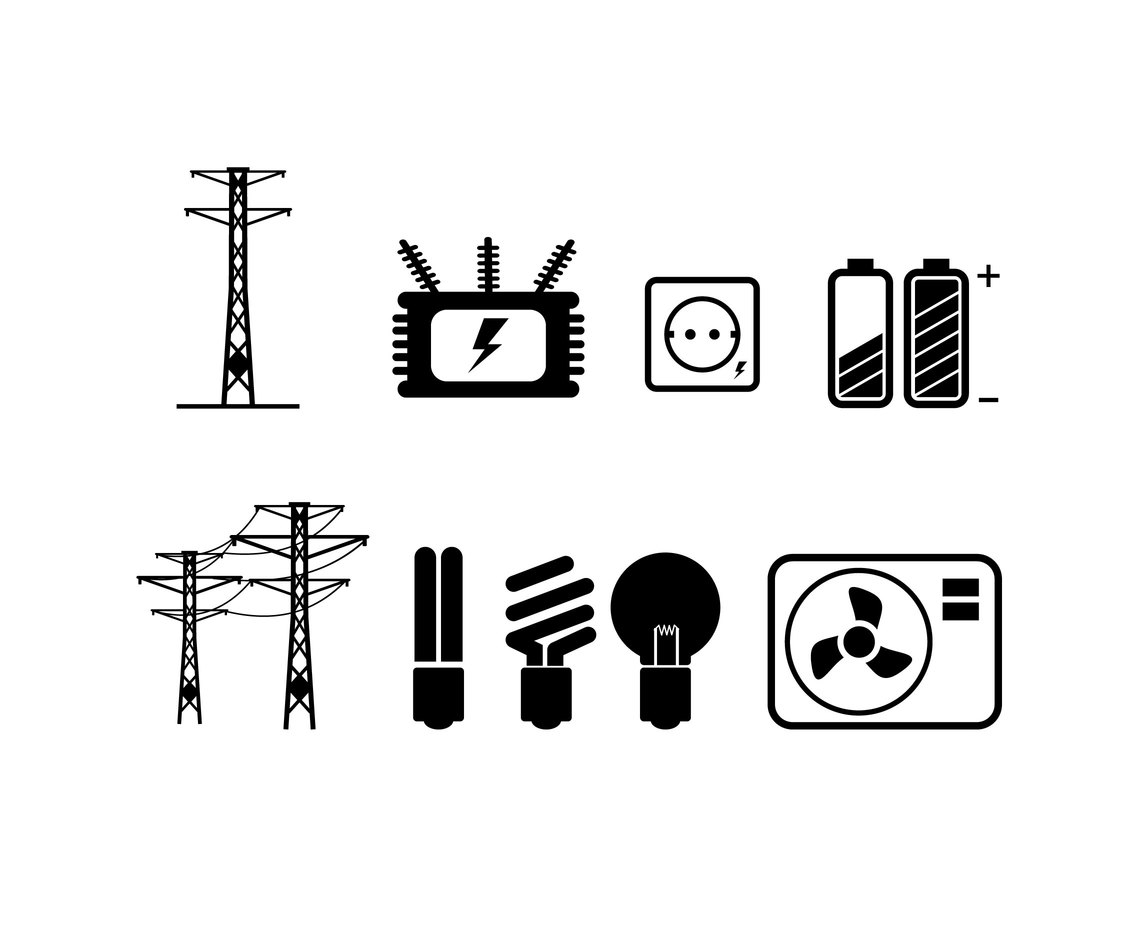 Electricity Energy Vector Vector Art Amp Graphics
