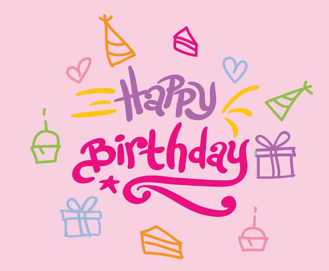 Happy Birthday Greetings Vector Vector Art Graphics Freevector Com