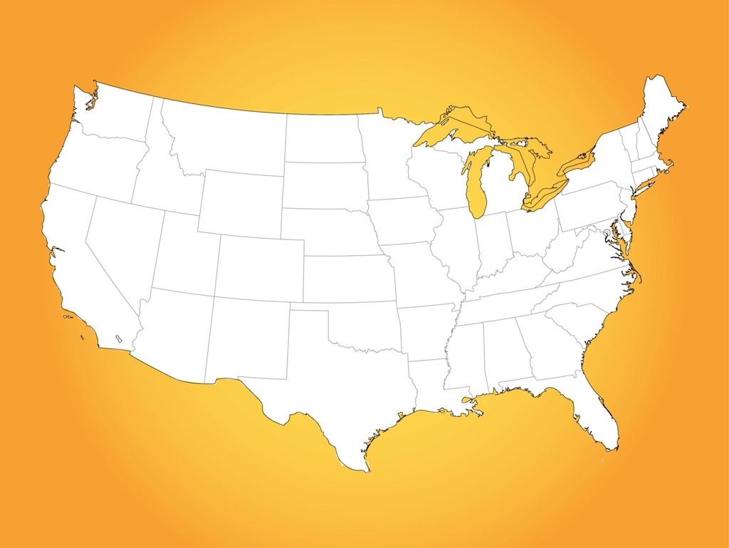 Usa Map Vector Art Amp Graphics