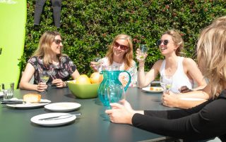 Yoga Retreat Garden Drinks