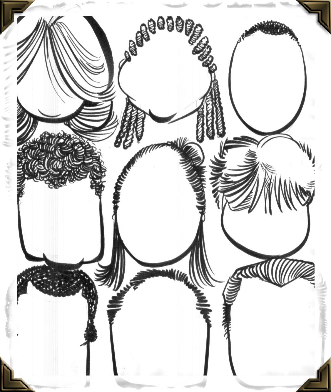 Templates For Drawing Caricatures