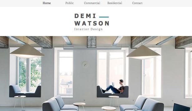Interior designer portfolio brokeasshomecom for Interior design font selection