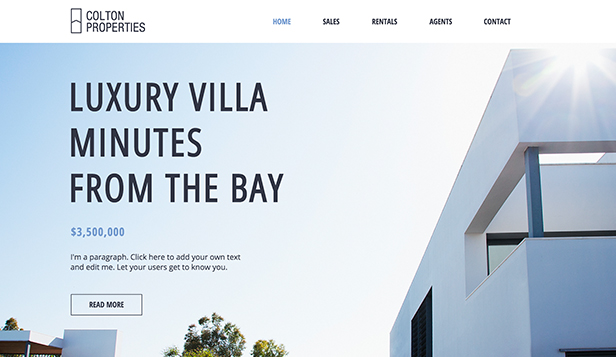 Luxury Real Estate Wix Template Wix Business Template