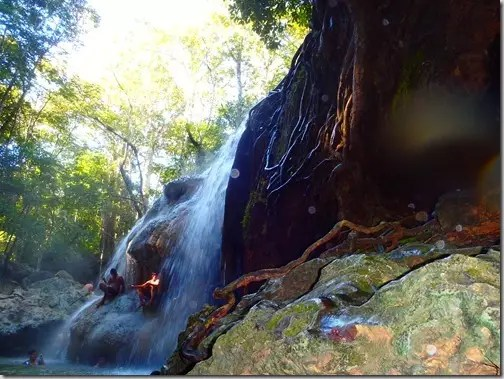 hot springs waterfall guatemala 6