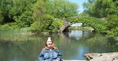 Karin in Central Park, 2010.