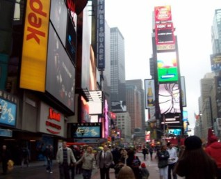 Times Square and Marriott Hotel. I feel so small, yet so free.