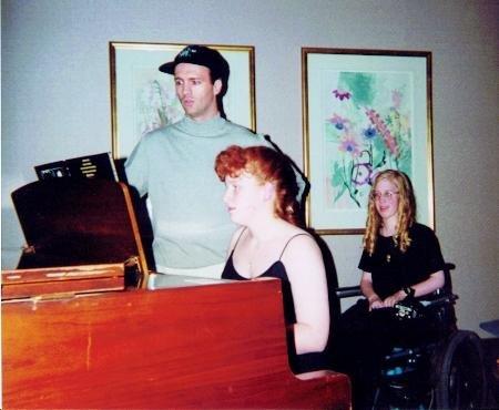 Ciaran Sheehan with Carrie and me, 1996