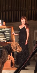 San Diego Civic Organist Dr. Carol Williams and her dog, Dietrich
