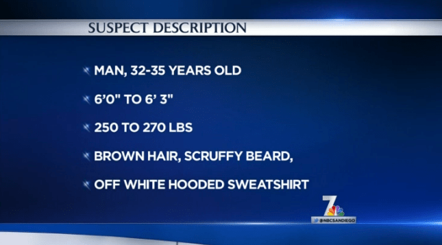 Description of the suspect