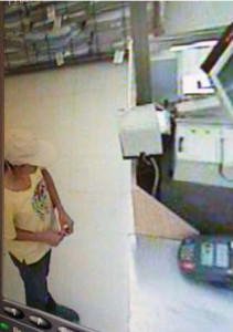 Security camera footage of Jennifer Alarcon, connected to a burglary
