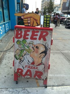 Come on in for a beer at the Freak Bar