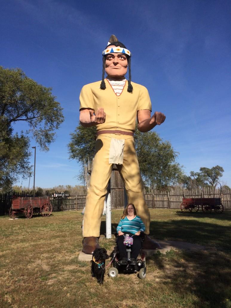 American Indian Muffler Man