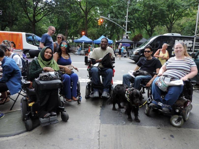 Me with a group at Disability Pride NYC.