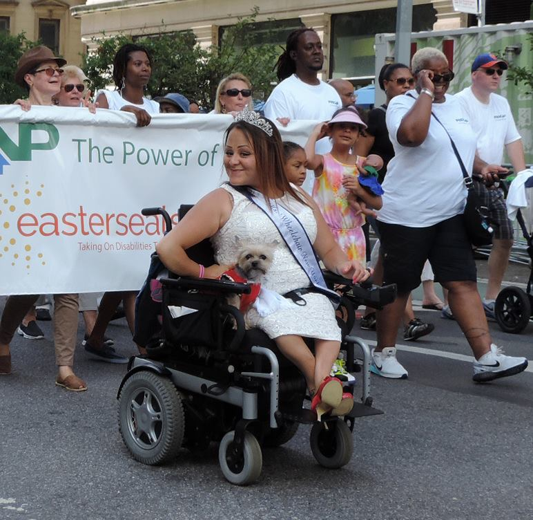 Ms. Wheelchair New York in the parade.