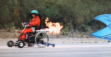 Rocket wheelchair.
