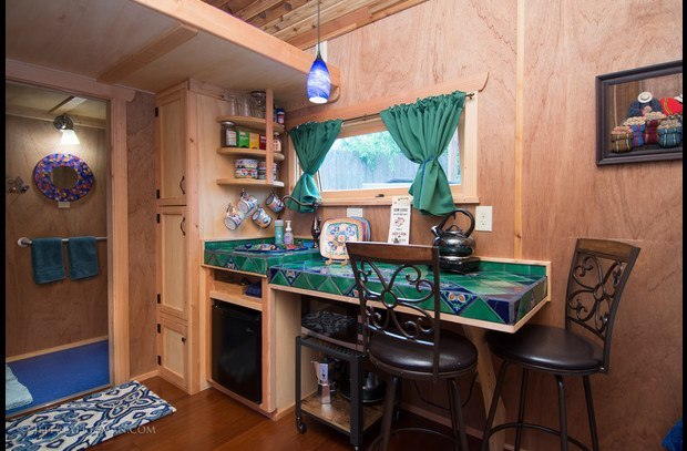 The beautiful Zyl Vardos wheelchair accessible tiny house.