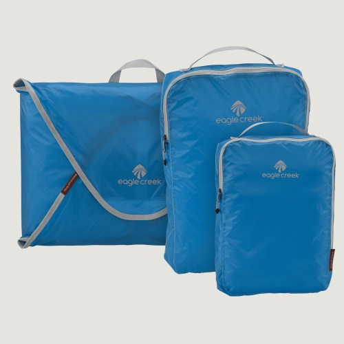 Wheelchair travel essentials -- packing folders and cubes from Eagle Creek.