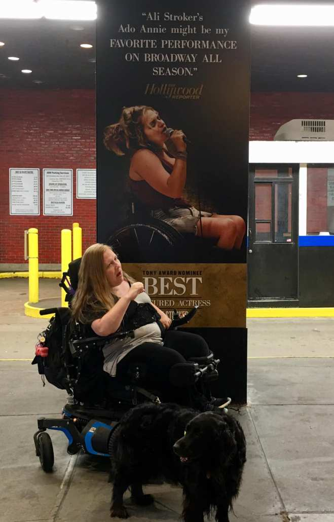 "Wheelchair accessibility information for Circle in the Square Theatre, see Ali Stroker in ""Oklahoma."""