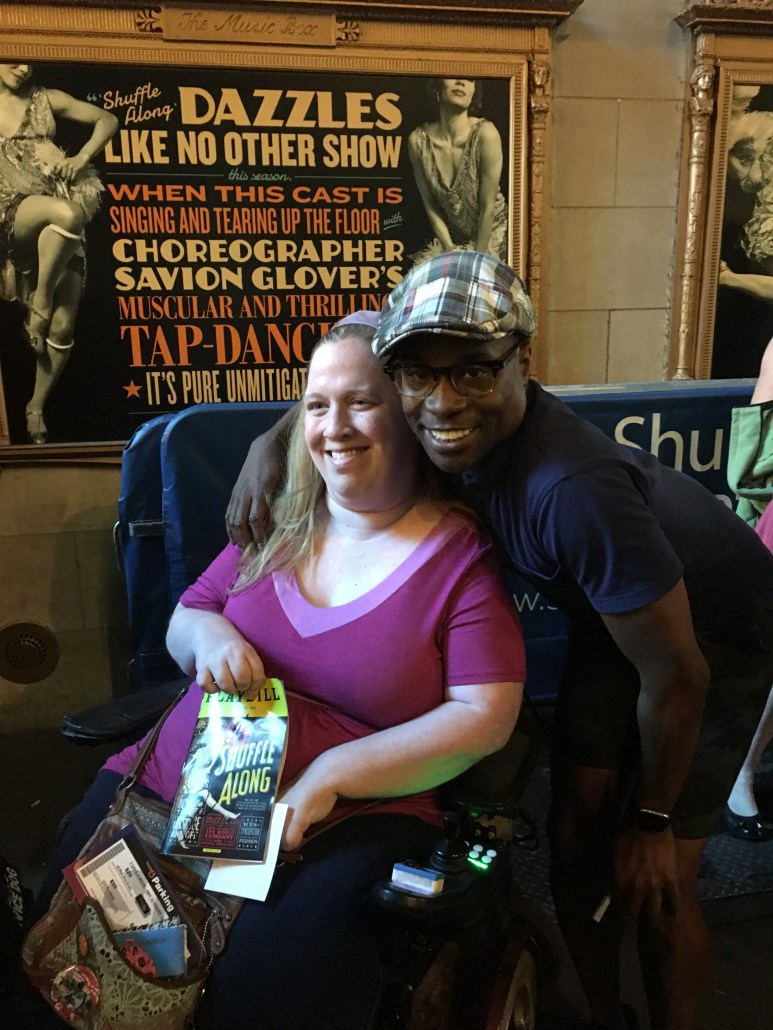 Wheelchair accessible Broadway musical ticket tips -- visit the stage door.