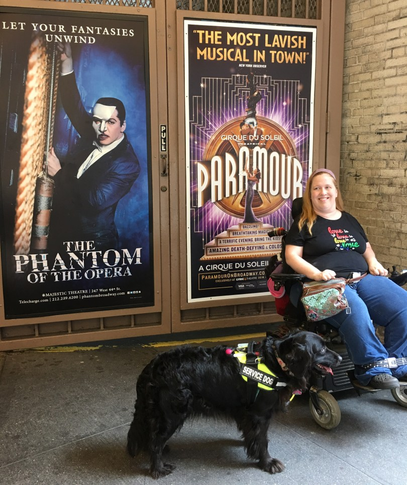 Enjoying musical theatre and plays as a person with a disability.