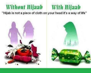 with Hejab, without Hijab