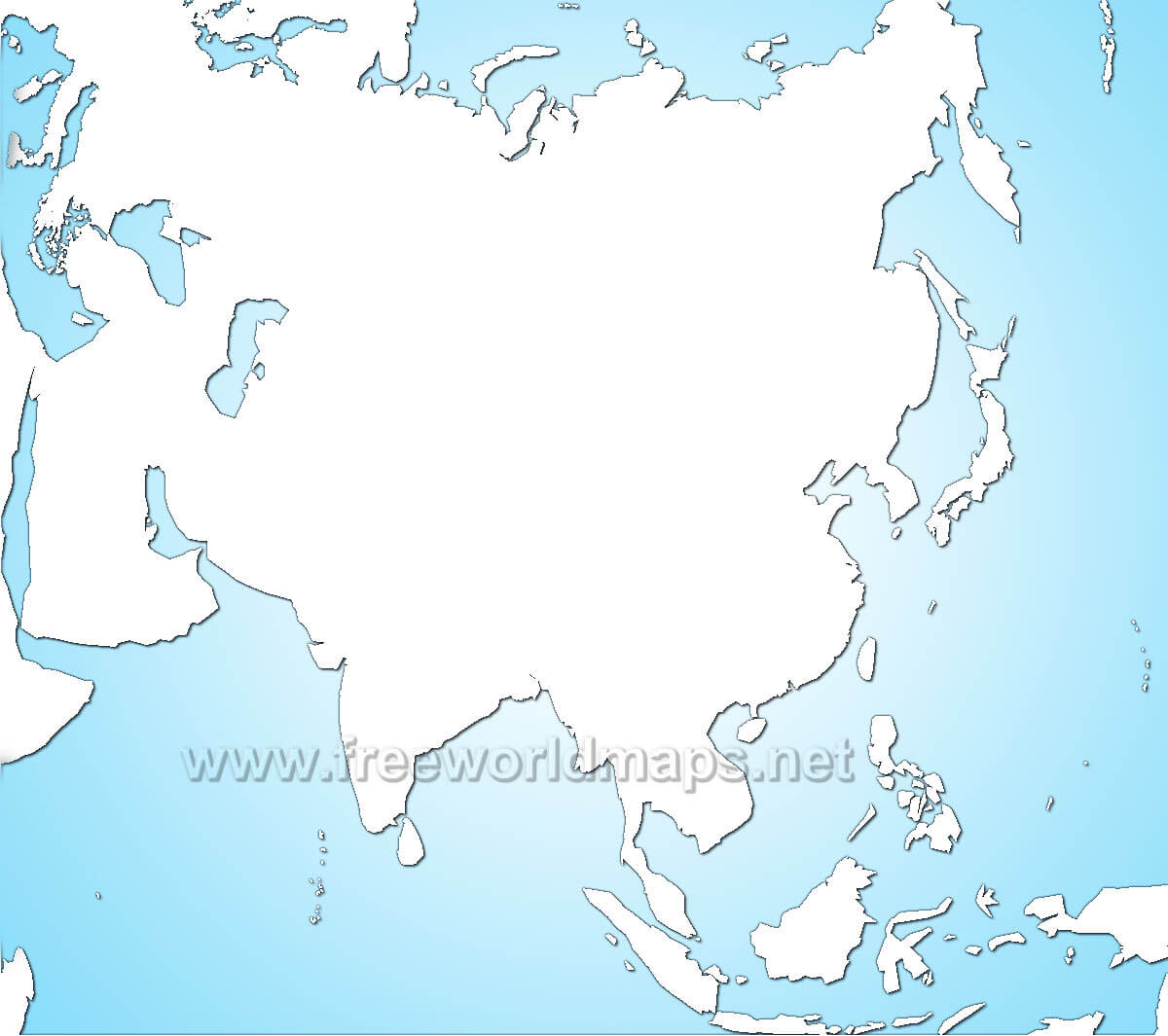 Asia Blank Map