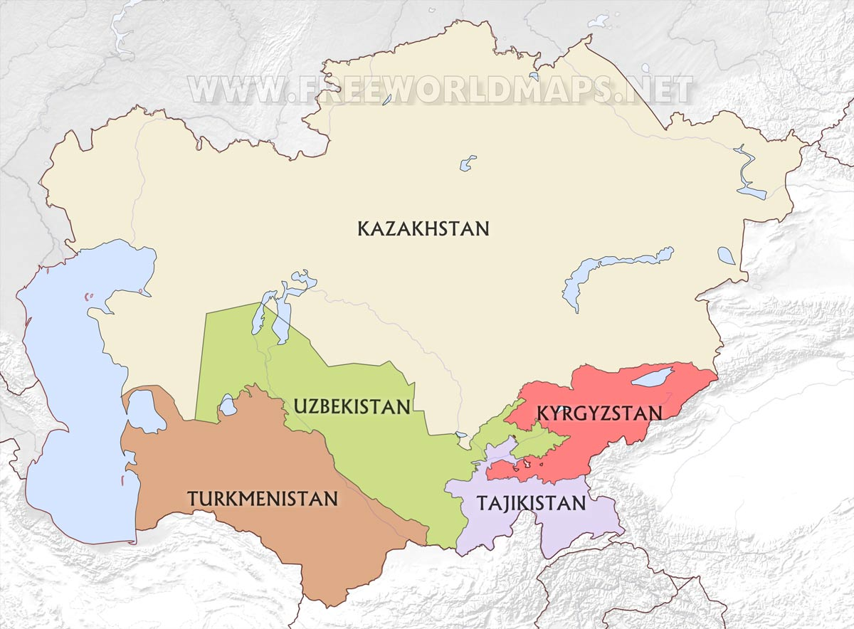 Central Asia Maps