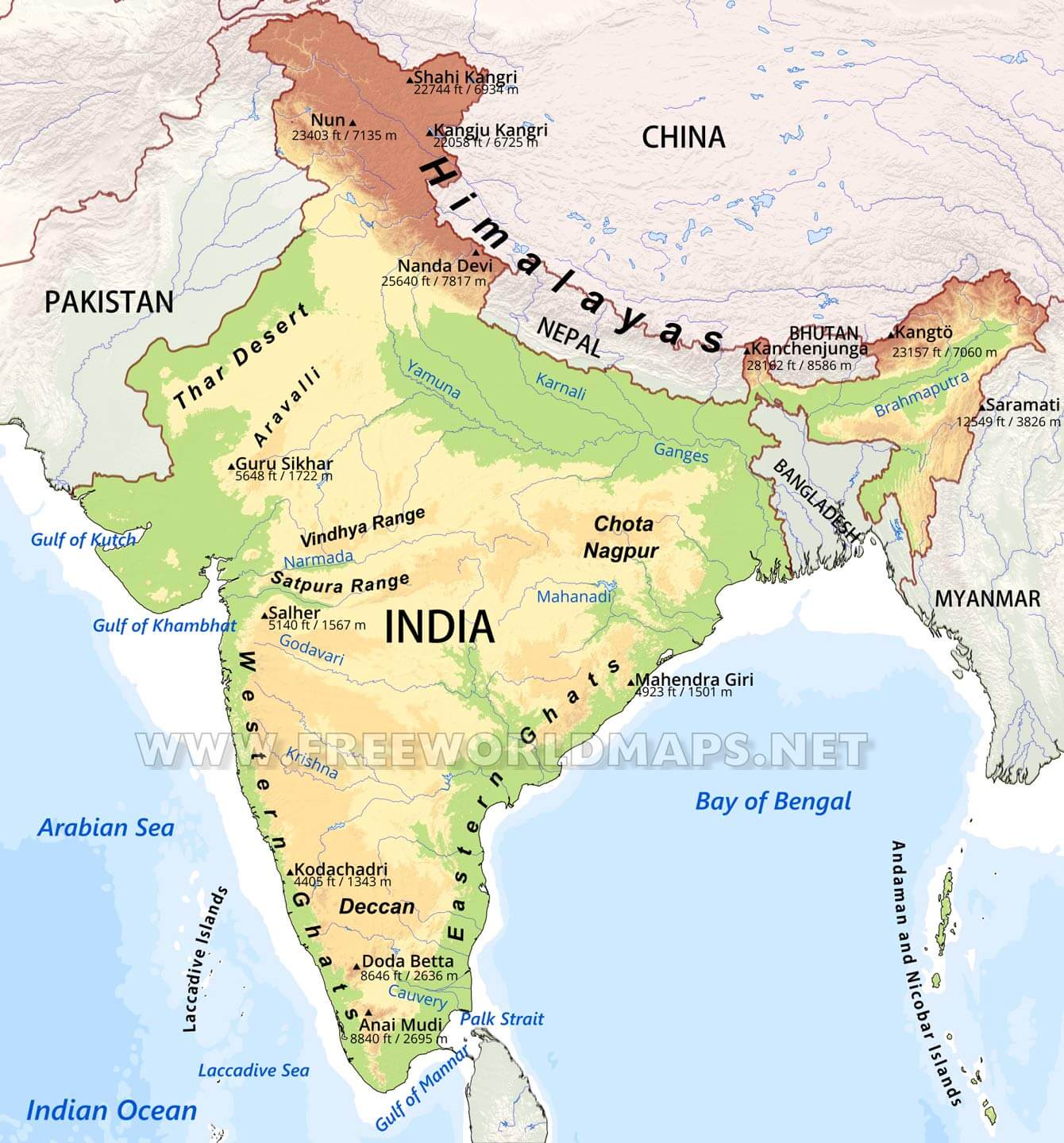 Indian Geography Questions And Answers For Competitive