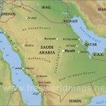 Saudi Arabia Physical Map