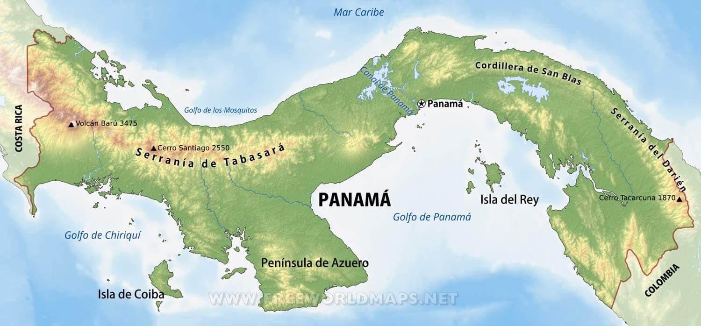Mapa De Centroamerica Para Colorear Sin Relieve