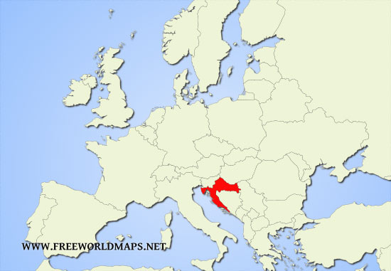 Image result for croatia on world map