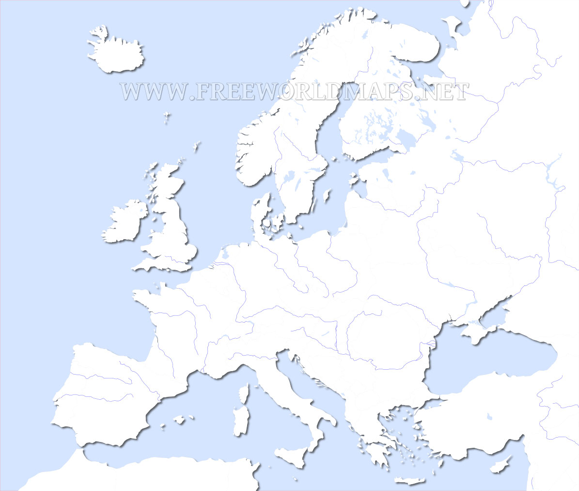 Europe Physical Map Freeworldmaps