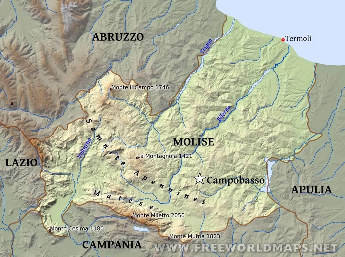 Map of Lazio region from Theatrum