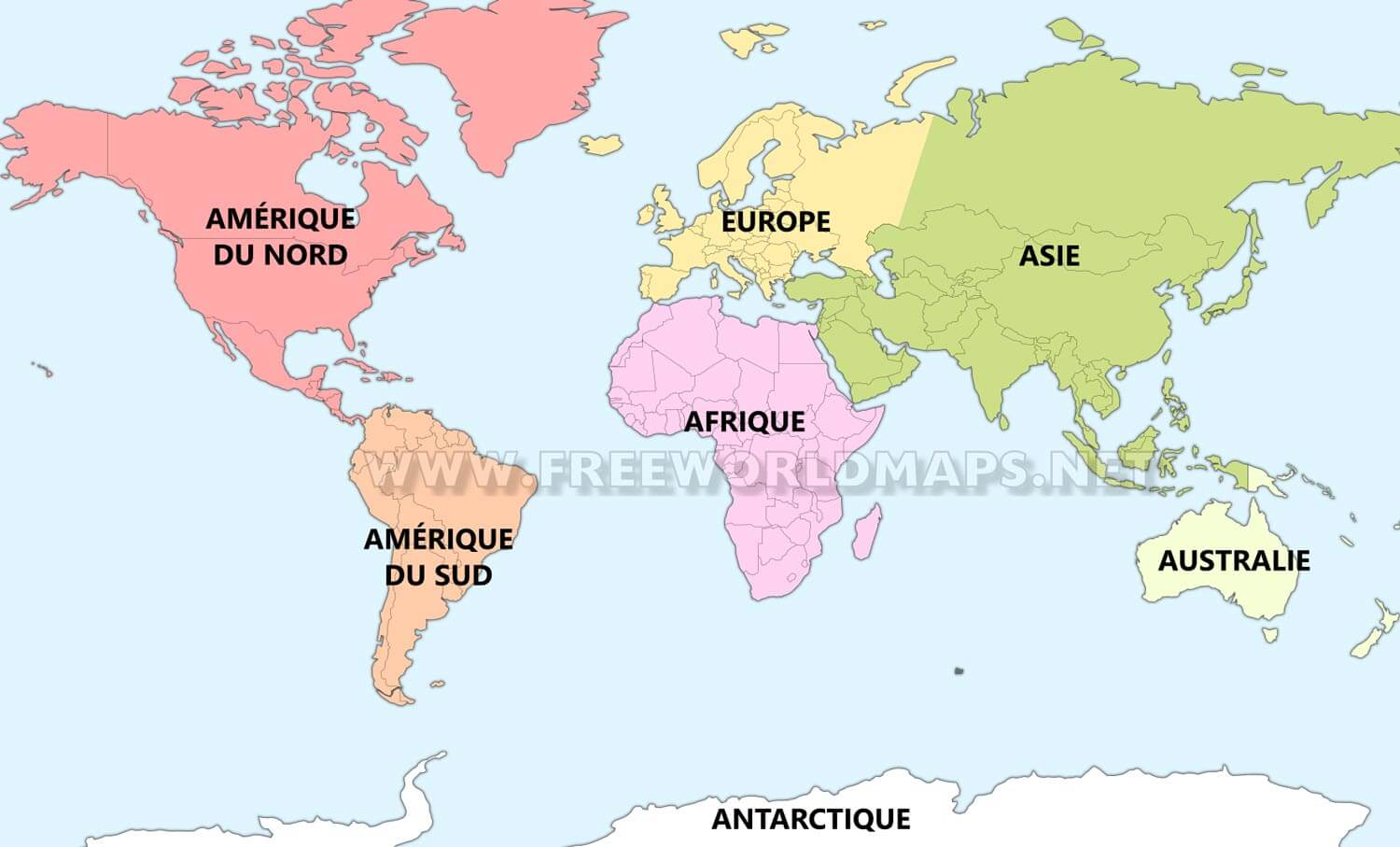 Les Sept Continents Freeworldmaps