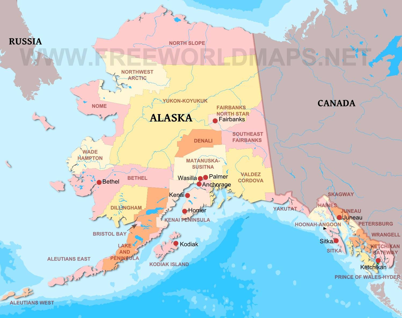 Risultati immagini per alaska map