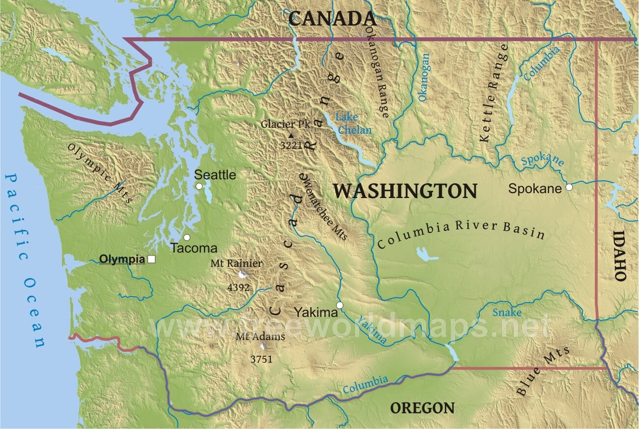 Geography Worksheet Washington State