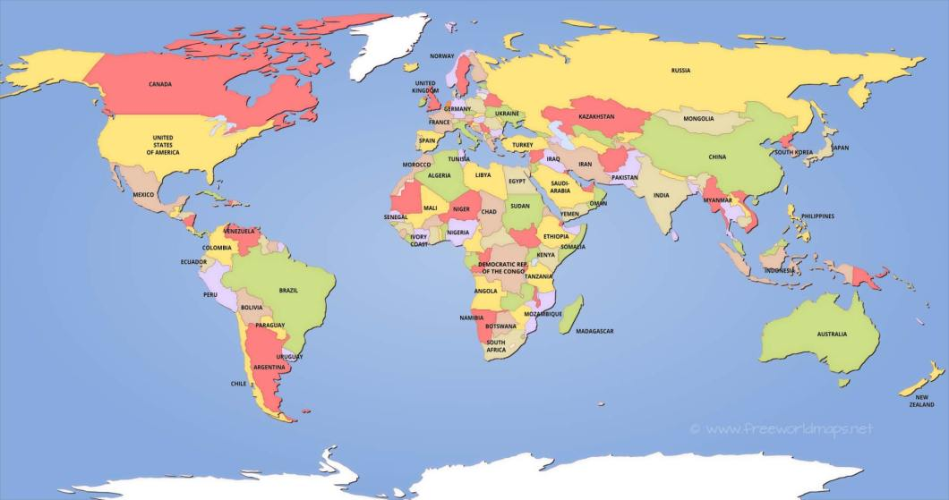 Hd images of world map gendiswallpaper political world maps gumiabroncs Images