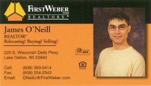 First Weber Business Card
